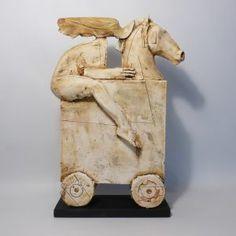 Horse Sculpture, Clay Sculptures, Narrative Elements, Horse Art, Clay Art, Wood Carving, Ceramic Art, Irene, Folk Art