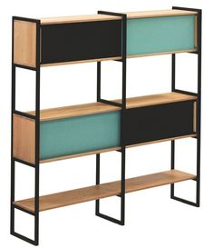 Une bibliothèque au design scandinave pour ranger ses livres Bibliotheque Design, Gaspard, Decoration, Shelving, Bookcase, Creations, Mid Century, Storage, Room