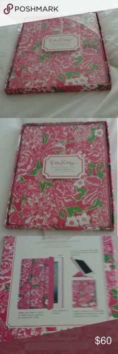 """NWOT Lilly Pulitzer IPad Case with Stand Lovely lilly! """"Featured in May Flowers"""".... Lilly Pulitzer Accessories Laptop Cases"""
