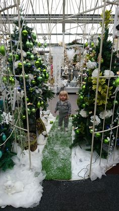 Kaycey-Anne at the garden centre