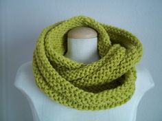 chunky knitted infinity circle scarf by LittleDillyDesigns