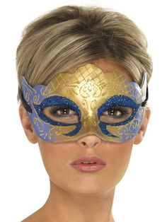 Venetian Colombina Farfalla Glitter Mask - 39025 - Fancy Dress Ball
