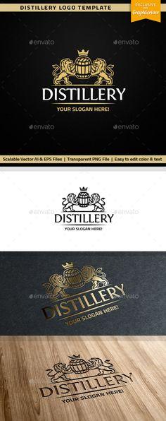 Distillery Logo Template Vector EPS, AI. Download here: http://graphicriver.net/item/distillery-logo/15512021?ref=ksioks