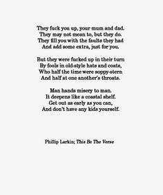 This Be The Verse | Phillip Larkin