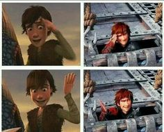 Hiccup never changed with his motions. I SEE YOU HTTYD ANIMATORS. I SEE YOU