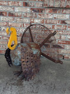 I finished this turkey by spray painting the snood red. Adorable!