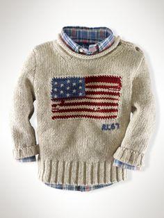 aa85a9b8abe94 Ralph Lauren Childrenswear Boys  Flag Sweater - Sizes 2-7