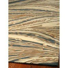 Handmade Thom Filicia Niagra Blue N.Z. Wool Rug (9' x 12')