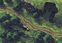 Hillside Altar battle map, color
