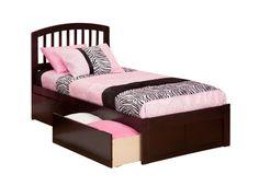 Richmond Bed | Flat Footboard | Urban Bed Drawers | Espresso