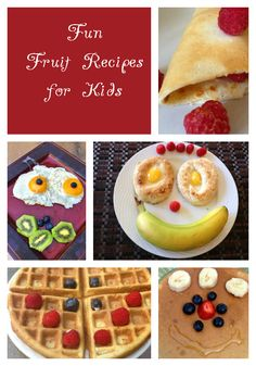 5 Easy & Fun Fruit Recipes For Kids: Fun fruit recipes for kids are a great way to get them to eat healthy! We tend to eat with our eyes as well as we our mouth. It is true for kids too: they want visual appealing recipes to entice them to try them. My 6 year-old daughter is always excited to eat funny recipes we prepare together. We even go to the library and search for books featuring fun fruit recipes for kids! It is one of her favorite activities.