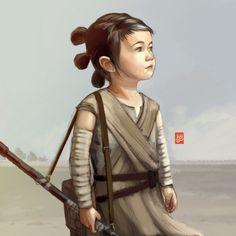 Personagens da cultura nerd ilustradas versão criancinhas de Sheharzad Arshad www.meiguita.com