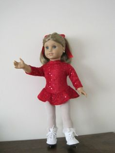 Beautiful Ice Skating Costume for American Girl and by MarieGeorj