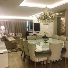 Nadire Atas on Simple and Elegant Living Areas Living Room Designs, Living Room Decor, Living Dining Combo, Living Room Arrangements, Classic Living Room, Home Decor Furniture, Apartment Design, House Design, Decoration