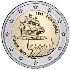 moneda conmemorativa 2 euros Portugal 2015 Timor., Tienda Numismatica y Filatelia Lopez, compra venta de monedas oro y plata, sellos españa, accesorios Leuchtturm