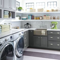Saturday multi-tasking made easy with a pretty laundry and butler's pantry combo for the win! Pantry Laundry Room, Laundry Room Storage, Laundry Room Design, Laundry Rooms, Storage Room, Storage Ideas, Pantry Interior, Pantry Shelving, Laundry Room Inspiration