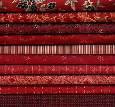"Bridgeport ""Reds"" Fat Quarter Bundle - 10 fabrics"