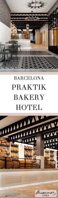 If you love a bakery and the divine smell of bread that comes from them then you need to find this striking Barcelona hotel. The Praktik Bakery Hotel in Barcelona is exactly what you need. it also has amazing interiors. #praktickhotel #barcelonahotel