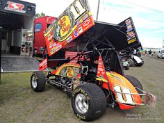 Steve Kinser World of Outlaws 2012 Bass Pro Shops Outlaw Sprint Car at River Cities Speedway The Bullring - Photo of the Day - River Cities Speedway