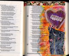 """""""The lines have fallen for me in pleasant places""""  Psalm 16  #bibleartjournaling #documentedfaith #illuminatedfaith"""