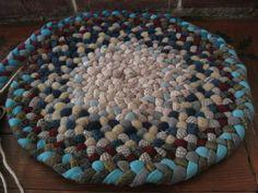 Beautiful hand braided rug