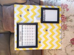Never forget an assignment with this cute DIY dorm calendar!