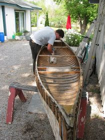 A while back, I wrote briefly about a Chestnut Cruiser slated for restoration. This model of paddling canoe is one of my favorites. Canoeing, Kayaking, Wooden Canoe, Birch Bark, Boats, Restoration, Workshop, Building, Vintage