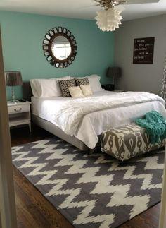 Think this is what I want our bedroom to look like! But with a few changes of course!