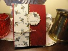 Stampin up Nature Walk 121997   Love the use of the bees on their own and background stamping