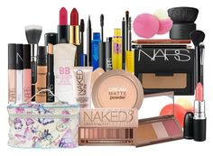 Untitled #459 by perrielstyle on Polyvore featuring NARS Cosmetics, Urban Decay, Maybelline, MAC Cosmetics, Topshop and dELiA*s