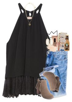 she danced to forget him. by ellaswiftie13 on Polyvore featuring OTTE, Kendra Scott, Kim Rogers, Versace, Estella Bartlett, Sonix, Eve Lom, Clinique and Too Faced Cosmetics