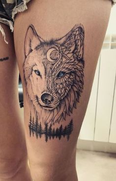 Celtic Wolf Tattoo, Tribal Wolf Tattoo, Wolf Tattoo Sleeve, Wolf Tattoo Design, White Wolf Tattoo, Wolf And Moon Tattoo, Small Wolf Tattoo, Howling Wolf Tattoo, Wolf Tattoos For Women