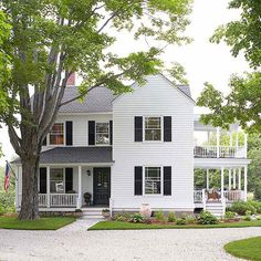 """BHG used this New Hampshire farmhouse in their article """"Find the Perfect Color for Your House Style"""" (owners Joan and Dan Ross)"""