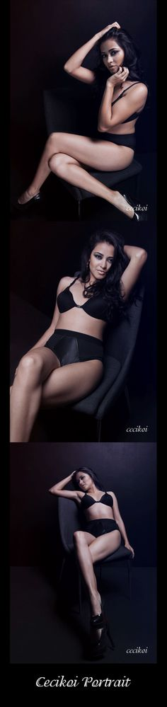 One of my favourite setups, black wall, chair and black lingerie. Everything you need to cheer up your ego and feel sexy again. Styling: Cecikoi Makeover: @Ranette Kinnard garcés   Model: @Self Imagen  Love boudoir