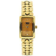 Golddigga Ladies Analogue Gold Dial Gold Tone Metal Bracelet Strap Watch DIG34B