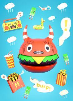 i heart cheezburgers by BEN VOLDMAN ILLUSTRATION