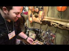 Tim Holtz Shows Amazing Projects by Laura Denison using Configurations Boxes - CHA 2011
