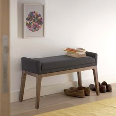 'Trident' Bench in Oak - £355 + £75 delivery - hallway or bedroom for putting shoes on