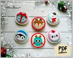 This is the Set of 6 Christmas baubles Digital patterns from felt. You can use it as separate ornaments for your Christmas tree, table decorations, etc. Or you can stretch the ornaments on a long string and use as a garland. Dimentions: 8.5 cm / 3.3 inch tall (9,5 cm / 3.7 inch included the