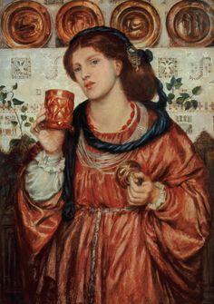 The loving cup - Dante Gabriel Rossetti - WikiArt.