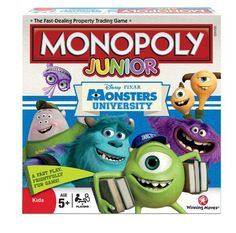 LOWEST EVER AMAZON PRICEMonopoly Junior Monsters University Board Game RRP £19.99 NOW £8.39