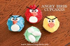"""Angry birds"" birds! cuppycakes"