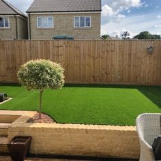 Fake grass backyard lawn completed with 37mm Trulawn Prestige.