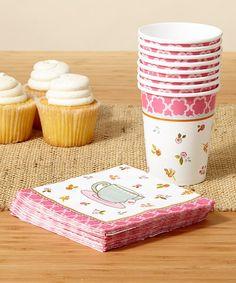 Look what I found on #zulily! Tea Time Cup & Beverage Napkin Set #zulilyfinds