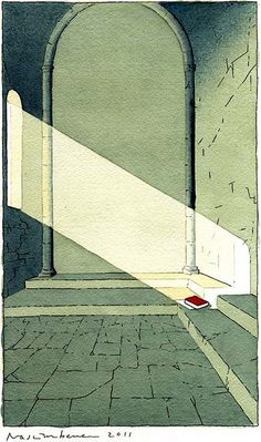 Yan Nascimbene 'The Sanctuary of Reading' 2011 by Plum leaves, via Flickr