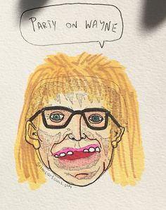 That time Frankie was Garth #frankie #frankenstein #grimcartoons #frankieoftheday #garth #waynesworld #danacarvey #tuesday #tuesdaynight #photooftheday #pictureoftheday #picoftheday #drawingoftheday #glasses #chicago #music #snl #illustration #partyonwayne #love