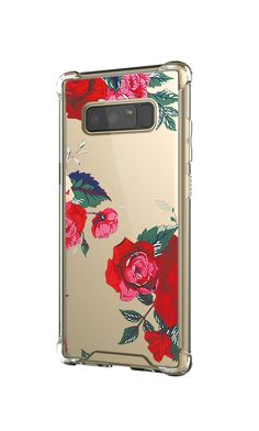 Cutebe Shockproof Hard PC+ TPU Bumper Case Scratch-Resistant Cover for Samsung Galaxy Note 8 2017 Release Rose Smart Design, Samsung Galaxy Note 8, Computer Accessories, Leather Wallet, Notes, Phone Cases, Floral, Life, Intelligent Design