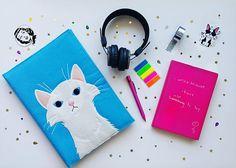 Cute White Cat  iPad & Macbook Case  iPad Sleeve  iPad Case