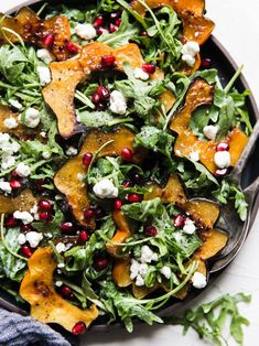 9 Healthy Winter Salads to Make When Your Instant Pot Could Use a Break Maple Roasted Squash Salad Winter Salad Recipes, Healthy Salad Recipes, Dinner Salads Healthy, Healthy Winter Recipes, Big Salads, Keto Recipes, Vegetarian Recipes, Ensalada Thai, Roasted Veggie Salad