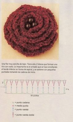 3 flowers crochet patterns in text in Spanish | Crochet and two needles
